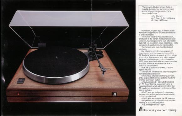 AR the Turntable - Vinyl Nirvana - Vintage AR and Thorens Turntable
