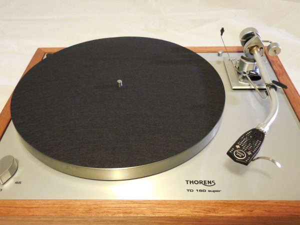 Custom Thorens TD-160 Super Reproduction, Rewired SME 3009 arm, Brazilian Cherry Plinth 07