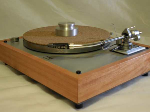 Custom Thorens TD-160 Super Reproduction, Rewired SME 3009 arm, African Mahogany Plinth 01