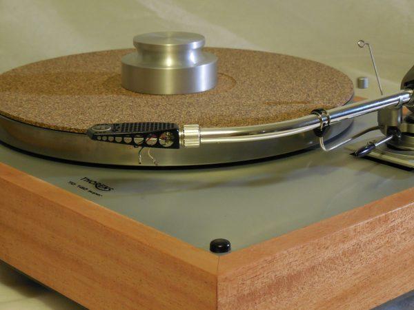 Custom Thorens TD-160 Super Reproduction, Rewired SME 3009 arm, African Mahogany Plinth 03