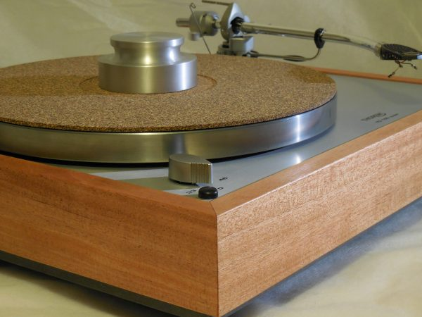 Custom Thorens TD-160 Super Reproduction, Rewired SME 3009 arm, African Mahogany Plinth 02