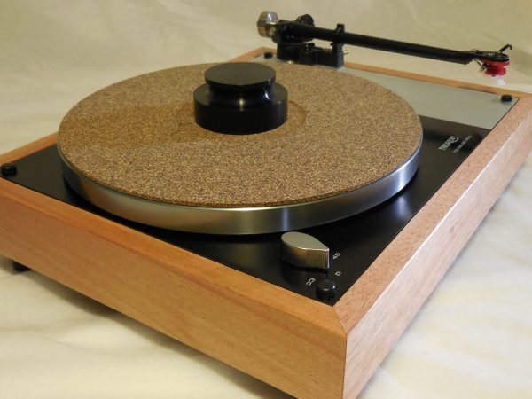 Cork-rubber composite mat and Black record weight add $125