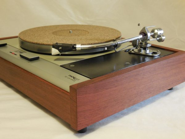 The Master!  Thorens TD-125 MKII w/rewired SME 3009 Arm & Custom Caribbean Rosewood Plinth 03