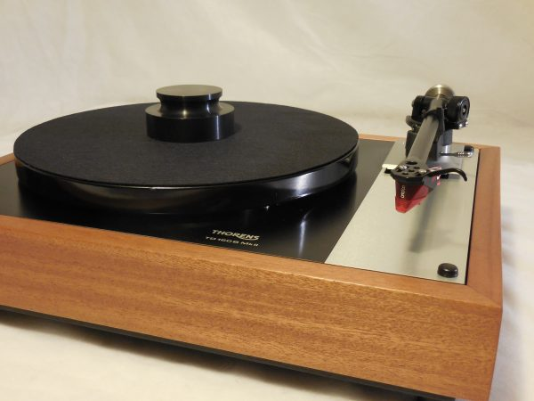 Stunning Thorens TD-160BC  in African Mahogany with rewired Rega RB-300 arm & Ortofon 2M Red cartridge 03