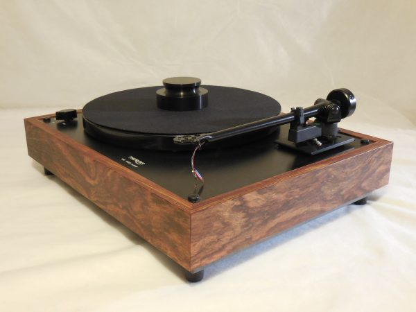 Custom Thorens TD-160 Super Reproduction, Midnight Edition (ME), Upgraded Rega (Moth) RB-202 arm, Caribbean Rosewood Plinth 03