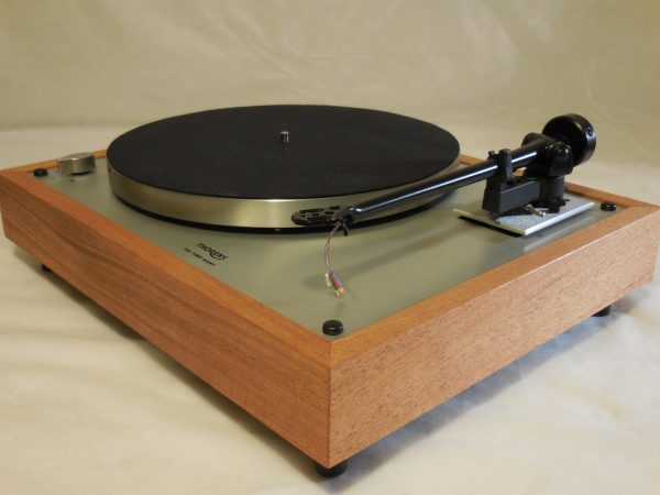 Custom Thorens TD-160 Super Reproduction, Upgraded Rega (Moth) RB-202 arm, African Mahogany Plinth 03