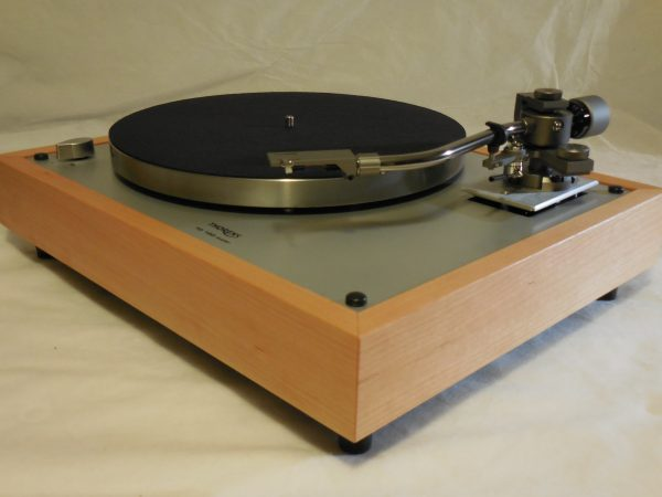 Custom Thorens TD-160 Super Reproduction, new Jelco 750D tonearm, Quarter-sawn Cherry Plinth 02