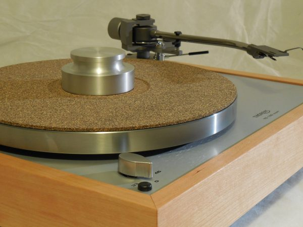 Custom Thorens TD-160 Super Reproduction, new Jelco 750D tonearm, Quarter-sawn Cherry Plinth 04