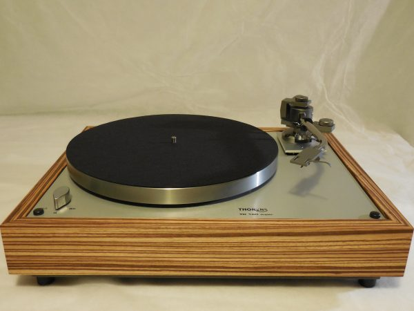Custom Thorens TD-160 Super Reproduction, new Jelco 750D tonearm, Solid Zebrawood Plinth 02