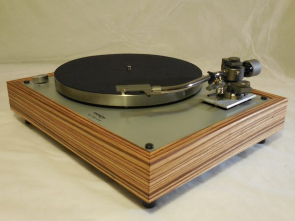 Custom Thorens TD-160 Super Reproduction, new Jelco 750D tonearm, Solid Zebrawood Plinth 01