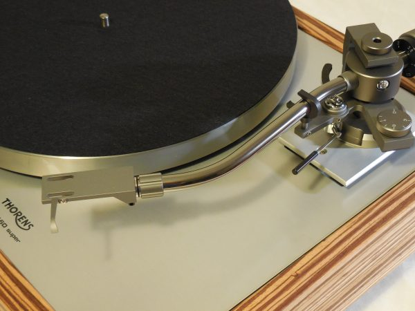 Custom Thorens TD-160 Super Reproduction, new Jelco 750D tonearm, Solid Zebrawood Plinth 03