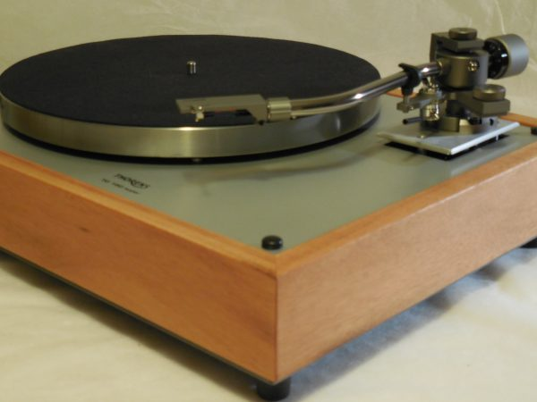 Custom Thorens TD-160 Super Reproduction, new Jelco 750D tonearm, Solid tiger wood Plinth 01