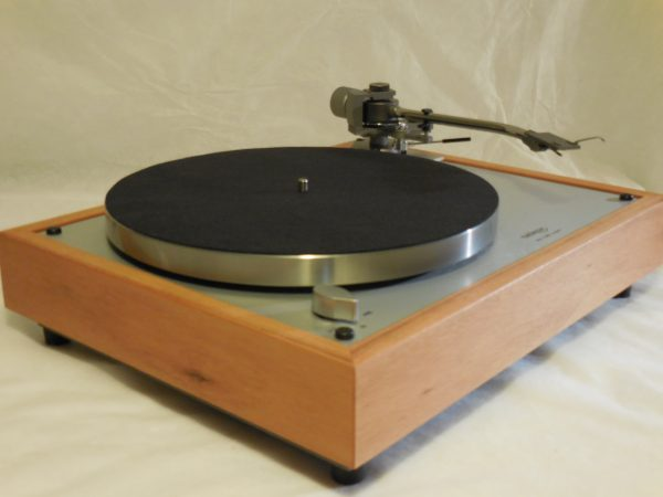 Custom Thorens TD-160 Super Reproduction, new Jelco 750D tonearm, Solid tiger wood Plinth 02