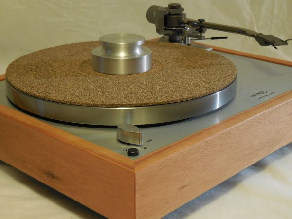 Custom Thorens TD-160 Super Reproduction, new Jelco 750D tonearm, Solid tiger wood Plinth 03