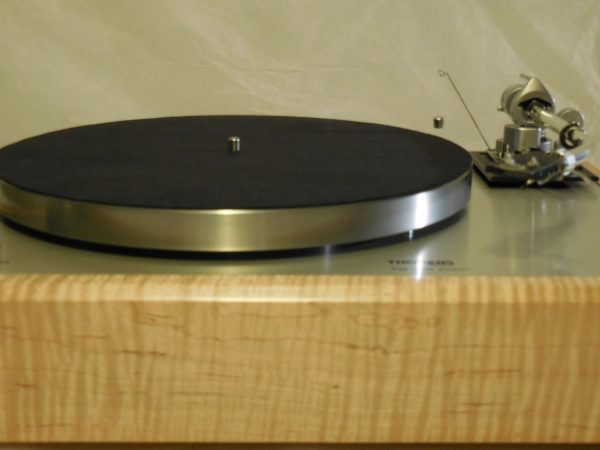 Custom Thorens TD-160 Super (Original), Rewired vintage SME 3009 arm, Tiger Maple Plinth 02