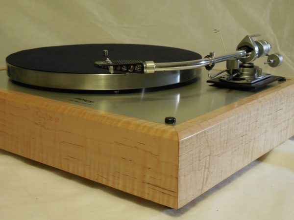 Custom Thorens TD-160 Super (Original), Rewired vintage SME 3009 arm, Tiger Maple Plinth 01