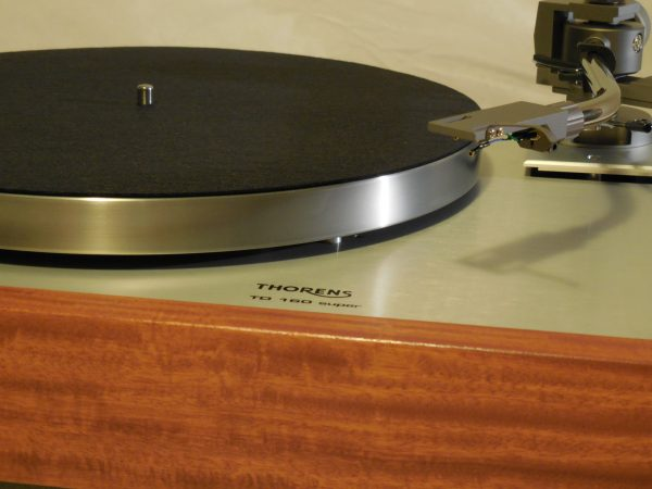 Custom Thorens TD-160 Super Reproduction, new Jelco 750D tonearm, Solid Santos Mahogany Plinth 01