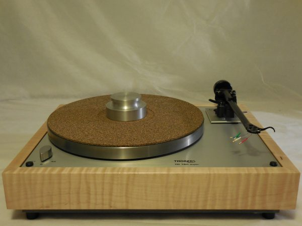 Custom Thorens TD-160 Super Reproduction, Upgraded Rega (Moth) RB-202 arm, Tiger Maple Plinth 06