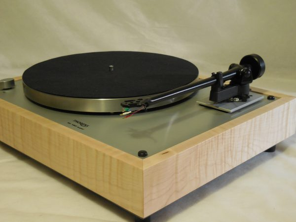 Custom Thorens TD-160 Super Reproduction, Upgraded Rega (Moth) RB-202 arm, Tiger Maple Plinth 05