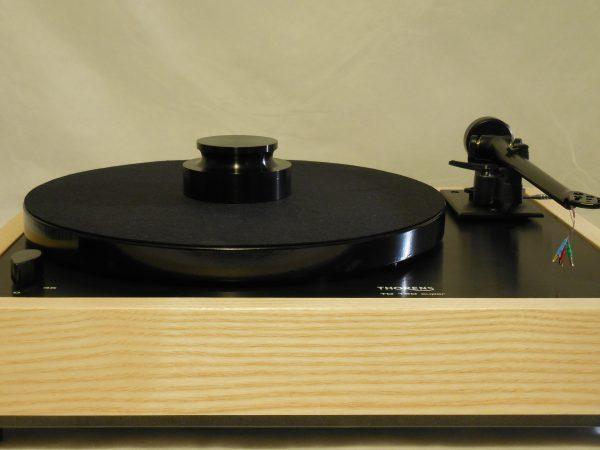 Custom Thorens TD-160 Super Reproduction, Midnight Edition (ME), Upgraded Rega (Moth) RB-202 arm, White Ash Plinth 01