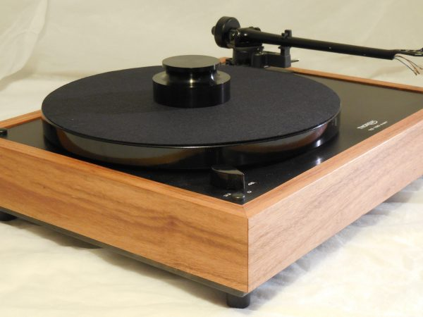 Custom Thorens TD-160 Super Reproduction, Midnight Edition (ME), Upgraded Rega (Moth) RB-202 arm, Tiger Wood Plinth 04