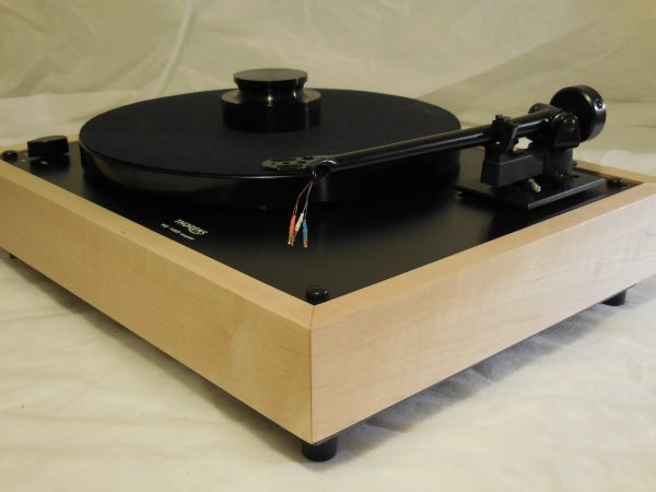 Custom Thorens TD-160 Super Reproduction, Midnight Edition (ME), Upgraded Rega (Moth) RB-202 arm, Tiger Maple 03