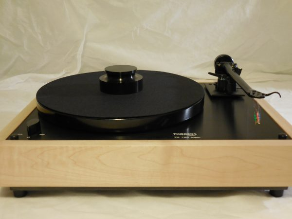 Custom Thorens TD-160 Super Reproduction, Midnight Edition (ME), Upgraded Rega (Moth) RB-202 arm, Tiger Maple Plinth 01