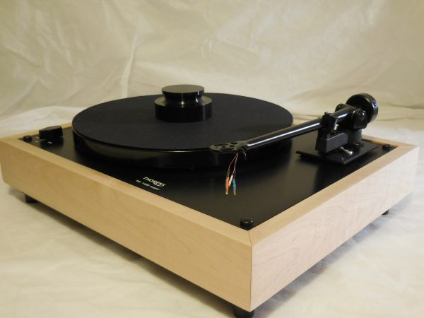 Custom Thorens TD-160 Super Reproduction, Midnight Edition (ME), Upgraded Rega (Moth) RB-202 arm, Tiger Maple Plinth 02