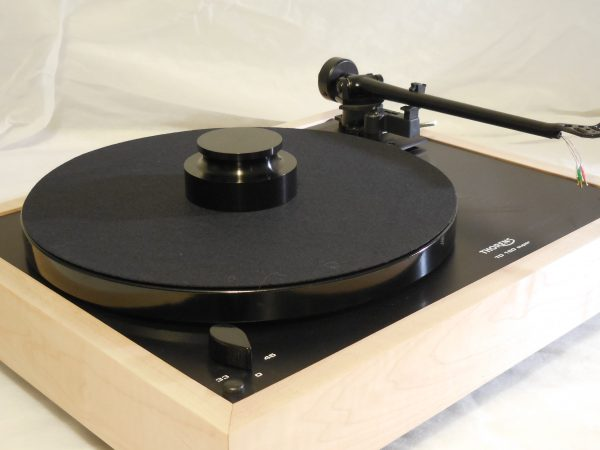 Custom Thorens TD-160 Super Reproduction, Midnight Edition (ME), Upgraded Rega (Moth) RB-202 arm, Tiger Maple Plinth 03