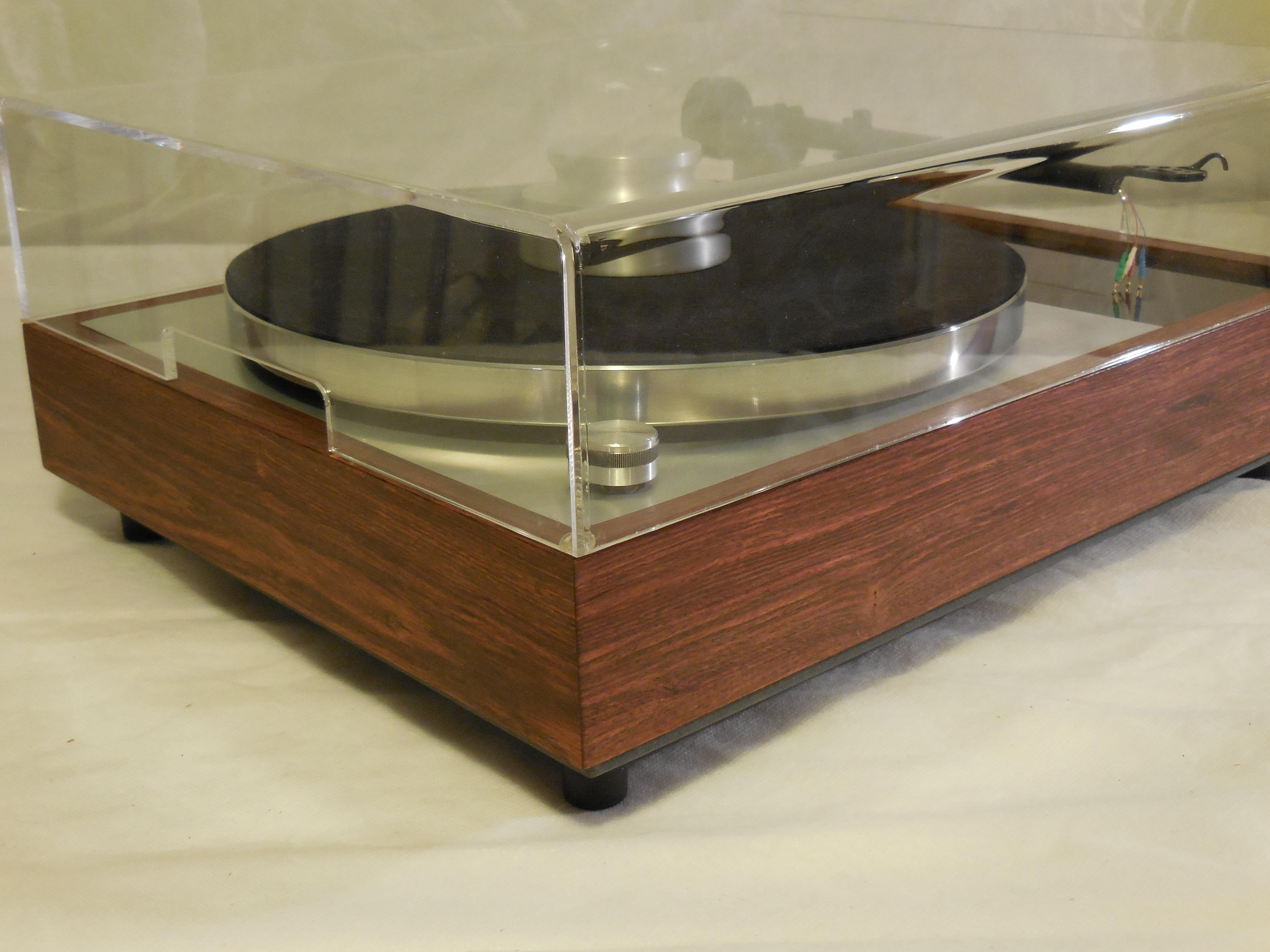 vinyl nirvana 39 s vn 150 a transformed thorens td 150 in custom caribbean rosewood plinth. Black Bedroom Furniture Sets. Home Design Ideas