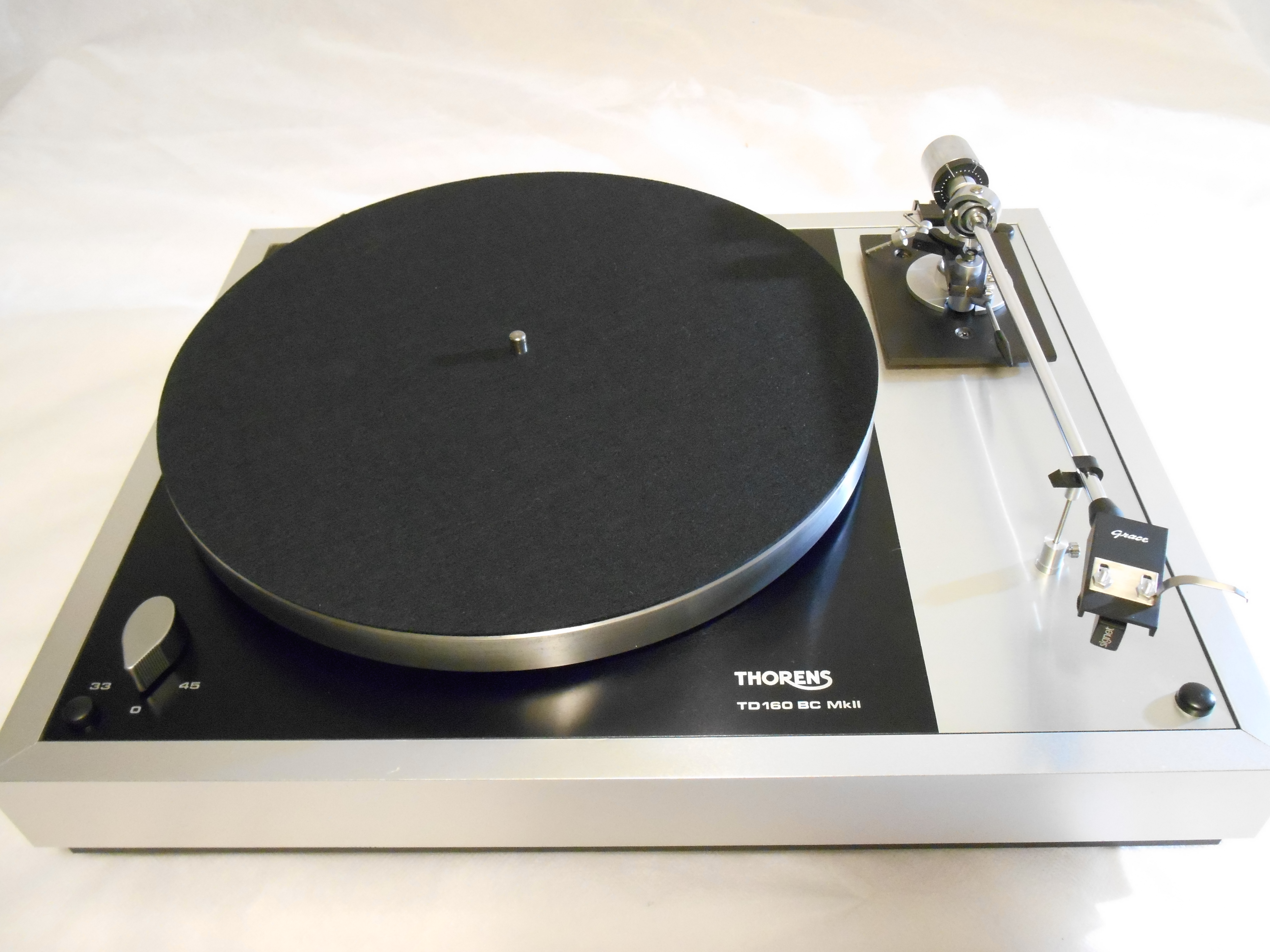Silver Beauty Thorens Td 160 Bc Mkii Turntable W Grace