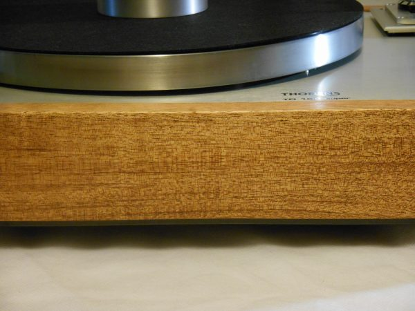 "The 3/4"" solid African Mahogany plinth is drop dead gorgeous!"