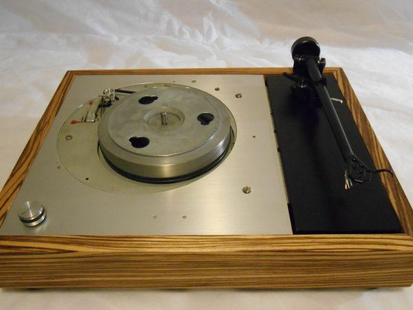 Vinyl Nirvana's VN-150! A Transformed Thorens TD-150 in custom Peruvian walnut plinth, Upgraded Rega (Moth) RB-202 Tonearm, Music Hall Cruise Control 08