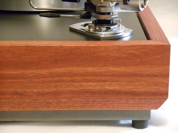 Solid Santos Mahogany plinth is taller than the regular VN-150 and features a beveled lower edge