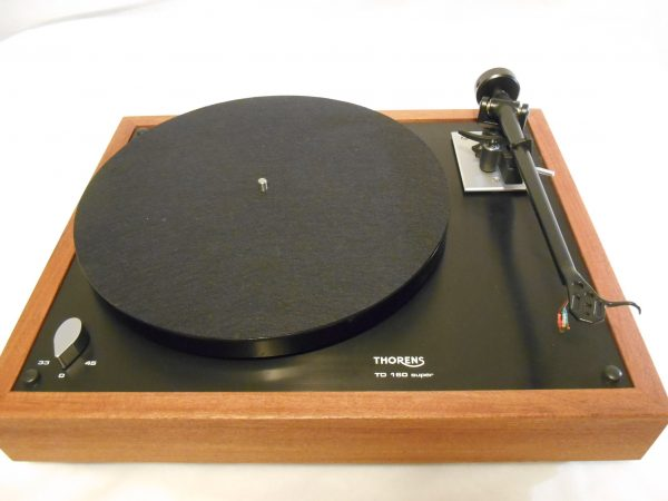 Thorens TD-160 Super Reproduction, Midnight Edition (ME), Upgraded Rega (Moth) RB-202 arm, solid Santos Mahogany 05