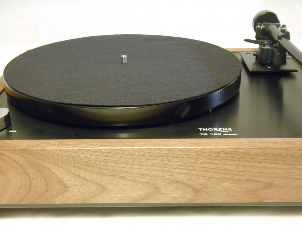 Thorens TD-160 Super Reproduction, Midnight Edition (ME), Upgraded Rega (Moth) RB-202 arm, solid Black Walnut plinth 05