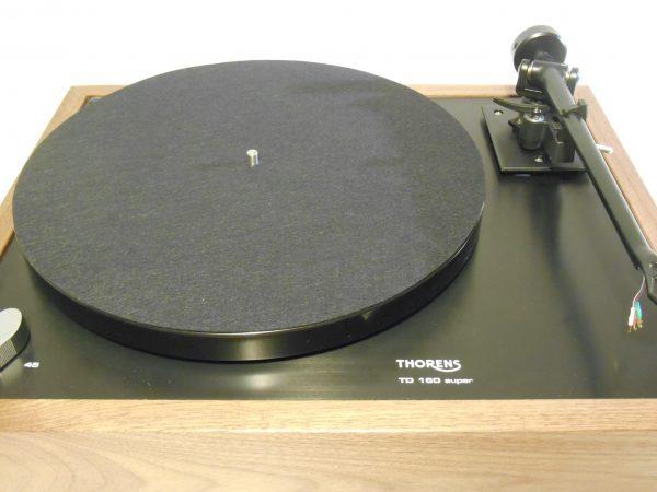 Thorens TD-160 Super Reproduction, Midnight Edition (ME), Upgraded Rega (Moth) RB-202 arm, solid Black Walnut plinth 06